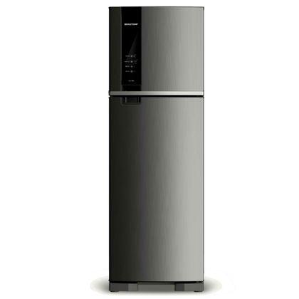 Geladeira Brastemp Frost Free Duplex 400 litros cor Inox com Espaço Adapt BRM53HK 110V