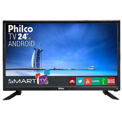 "TV Led 24"" Philco Smart PTV24N91SA Bivolt"