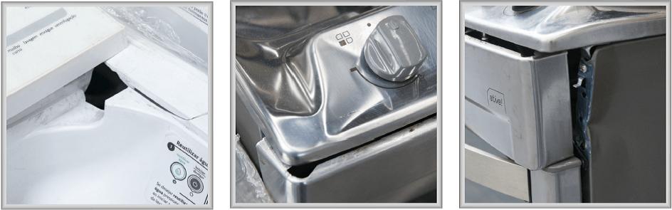 Produtos quebrados ou com falhas funcionais