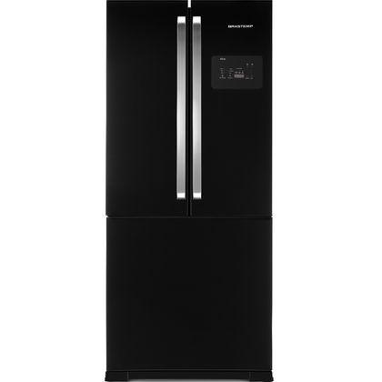 Menor preço em Geladeira Brastemp Frost Free Side Inverse 540 litros Preto com Ice Maker - Outlet - BRO80AE