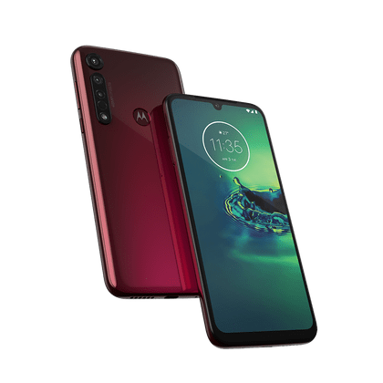 "Smartphone Motorola Moto G8 Plus 64GB, Dual Chip, Tela Max Vision de 6.3"", Câmera Traseira Tripla 48MP, Android 9.0 e Octa-Core Cereja"