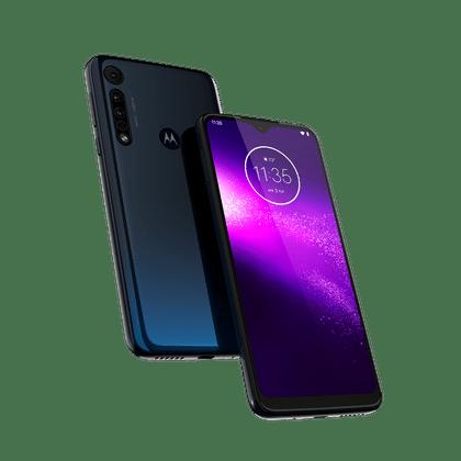 "Smartphone Motorola One Macro 64GB, Tela Max Vision de 6.2"" HD+, Câmera Traseira Tripla 13 MP + 2 MP + 2 MP, Android 9.0 e Octa-Core Azul Espacial"