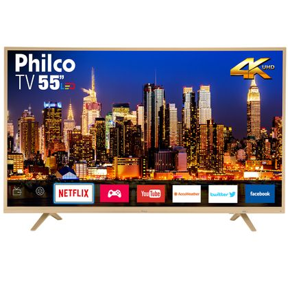 "Tv 55"" Led Philco 4k - Ultra Hd Smart - Ptv55u21dswnc"