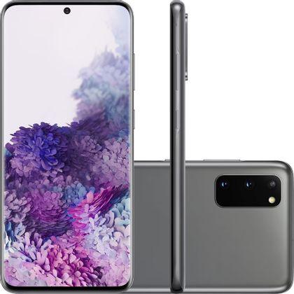 "Smartphone Samsung Galaxy S20 128Gb 8Gb Ram Tela 6,2"" Câm. Tripla 64Mp+12Mp+12Mp + Selfie 10Mp - Cosmic Gray"
