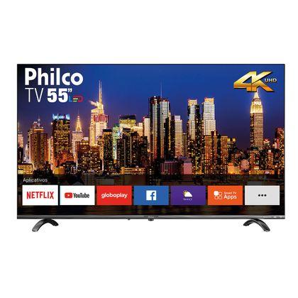 """Tv 55"""" Led Philco 4k - Ultra Hd Smart - Ptv55q20snbl"""
